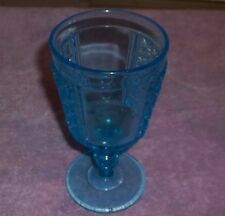 "Antique LIGHT Blue Ice Tea Glass Goblet Tumbler 6 3/8"" TALL"