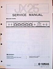 Yamaha JX25 Guitar Amplifier Original Service Manual, Schematics Parts List Book