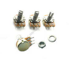 New 5 pcs 3-Pin 10K ohm Linear Taper Rotary Potentiometer Panel pot B10K 15mm