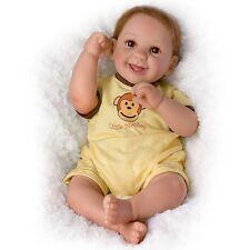 Ashton-Drake So Truly Real Little Monkey Poseable Baby Boy Doll by Cheryl Hill b