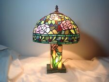 Vintage Signed DALE TIFFANY Stained Glass Table, Boudoir, Bar