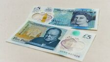 BRAND NEW POLYMER PLASTIC £5 FIVE POUND ENGLAND BANK NOTE SERIAL AA... FIRST RUN