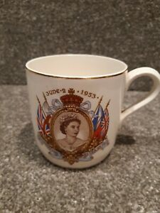 Midwinter Staffordshire Queen Elizabeth Coronation mug 1953