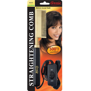Hot & Hotter Electrical Straightening Comb- Medium Curved Teeth, Professional