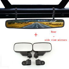 "1.75"" Breakaway Side & Rear View Mirrors Set for UTV Polaris RZR 900 1000 S 900"