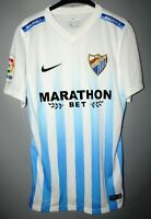 RARE MALAGA SPAIN 2016/2017 HOME FOOTBALL SHIRT JERSEY NIKE SIZE S ADULT