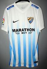 RARE MALAGA SPAIN 2016/2017 HOME FOOTBALL SHIRT JERSEY NIKE SIZE S ADULT
