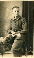 Carte PHoto d'un soldat prisonnier Cachet Stalag Militaria Militaire