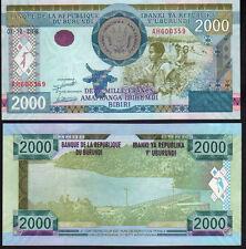 Burundi 2000 Francs 2008 Pnew Mint Unc