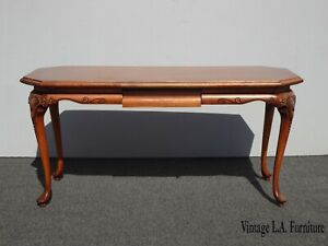 Vintage French Country Brown Writing Desk  As Is