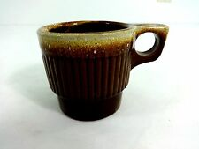 VINTAGE WESTERN MONMOUTH BROWN DRIP COFFEE MUG CUP MAPLE LEAF USA