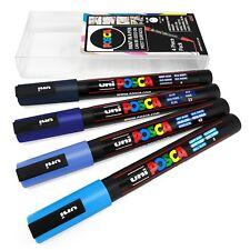 Uni Posca PC-8K Azul Pintura Marcador Bolígrafos Metal Vidrio Cincel 8mm Amplia De Tela Nuevo En Caja
