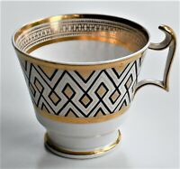 Antique Spode London Shape Coffee Cup Pattern No 2853 Gold and Black c.1830