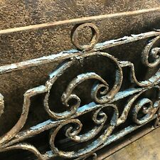 Antique Heavy Iron Ornate Scroll Architectural Salvage Window Wall Porch Grate