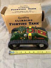 Vintage Marx Sparkling Climbing Fighting Tank Original Box Full Size Near Mint