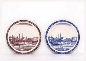 "VERNON KILNS <> 2 Our America 6 1/2"" Plates <> Rockwell Kent <> Excellent"