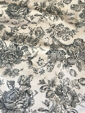 2 Toile Black Floral King Pillow Shams