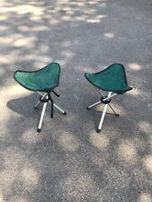 Portable Camping / Fishing / Picnic Folding Tripod Stool x2 off (pair)