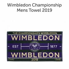 MENS WIMBLEDON TOWEL - OFFICIAL 2019 TENNIS CHAMPIONSHIPS - WORLDWIDE SHIPPING