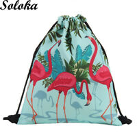 1Pc Printing Schoolbags Animal Pattern Men Women Drawstring Book Bag Backpack