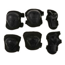 Children Cycling Roller Skating Knee Elbow Wrist Protective Pads (Black)