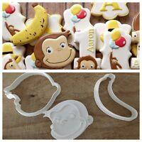 Curioso Come George Scimmia Banana 🍌 Formina Biscotti E Pdz Cookie Cutter 6/7Cm