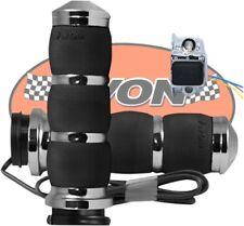 Avon AIR-93-HT Chrome Velvet Air Contour Heated Grips Harley Twin Cam & XL
