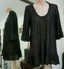 Bec & Bridge Blouse.Sz10.Stretchy black lace silver shimmer.Md & dsgnd in Aus.