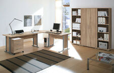 Arbeitszimmer Büroeinrichtung Büromöbel Büro komplett OFFICE LINE Eiche Sonoma