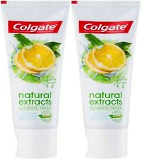 X2 Colgate Utimate Fresh Natural Extracts Toothpaste With Lemon Oil & Aloe 75ml