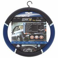 Genuine Sumex Speed Car Steering Wheel Sleeve Cover - Black, Chrome & Blue #56