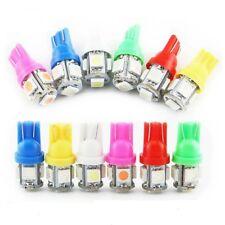2 PEZZI T10 LAMPADE A LED AUTO NO ERROR W5W CON 5 SMD 5050 12V VARIE COLORAZIONI