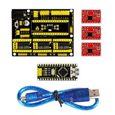 3D Printer Kit for Arduino CNC Shield V4+Nano 3.0+ A4988 Driver GRBL Compatible