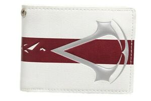 Assassins Creed Logo White Bi-fold Wallet