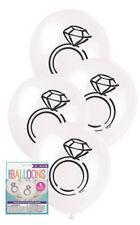 8pk White Team Diamond Latex Balloons Hens Night Bachelorette Party Wedding