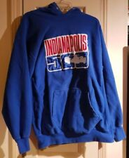 Indianapolis Indy 500 IMS Blue Hoodie Pullover Sweatshirt Mens Size Large