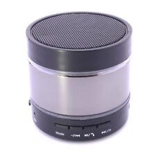Portable Bluetooth Metal Wireless Mini HiFi Handsfree Mic Bass Speaker Sliver