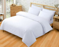 White Bedding Set Egyptian Cotton Duvet Quilt Cover Double King 400TC Pillowcase