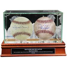 Derek Jeter & Mariano Rivera Dual-Signed Game-Used Baseball Case Set - Steiner