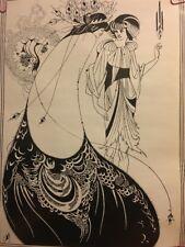 Aubrey Beardsley The Cocktail Skirt Original Vintage Poster Women 1970's Pin-up