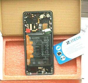 GENUINE HUAWEI P30 BLACK LCD SCREEN SERVICE PACK NEW DISPLAY FRAME OLED BATTERY