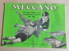 Vintage Meccano Instructions for Accessory Outfit 4a