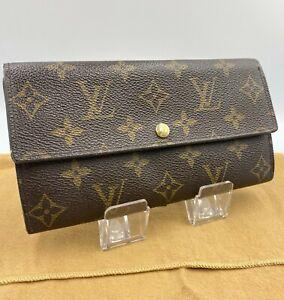Auth Louis Vuitton Monogram Portefeuille Sarah Bifold Wallet M61734 NS10-0356
