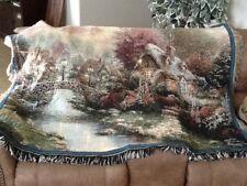 Thomas Kinkade Lamp Light /Wall Tapestry - 63x40