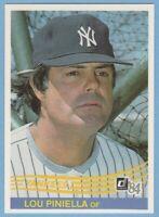 1984 Donruss #274 Lou Piniella New York Yankees Combined Shipping