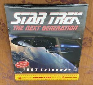 VINTAGE STAR TREK THE NEXT GENERATION CALENDAR 1997 STTNG SEALED UNUSED EXC!!!