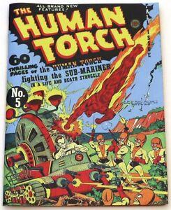 THE HUMAN TORCH #5 (B) (60 PG.HUMAN TORCH / SUB-MARINER BATTLE, COVERLESS, 1941)