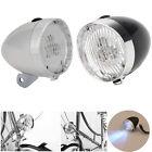 Retro Bicycle Bike 3 LED Headlight Front Light Vintage Flashlight Lamp Lighting
