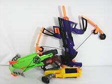 NERF Guns LOT of 3 Maverick Rev 3 Avengers Big Bad Bow Zombie Strike NO AMMO