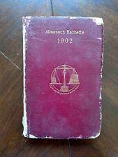 Vintage ALMANAC HACHETTE 1902 Almanach date book information guide Frenchy